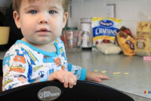 One of my little partners in the kitchen helping make chocolatey trail mix cereal bars. via www.sahmplus.com
