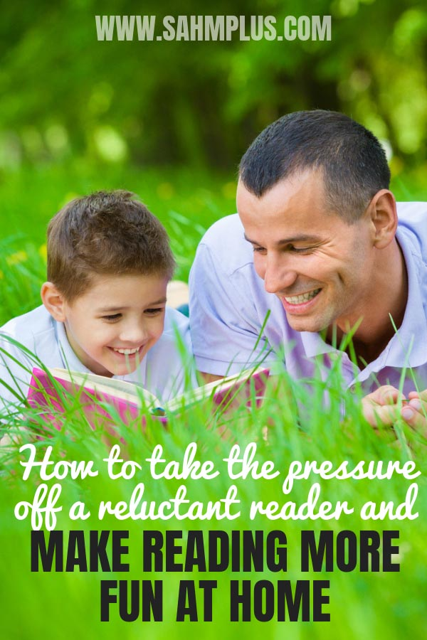 11 tricks to make reading more fun for your reluctant reader at home. Teaching a child reading can be fun requires taking the pressures of doing well off his mind. Make reading more fun at home | sahmplus.com