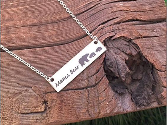 Mama bear necklace - mama bear jewelry, personalized with number of cubs