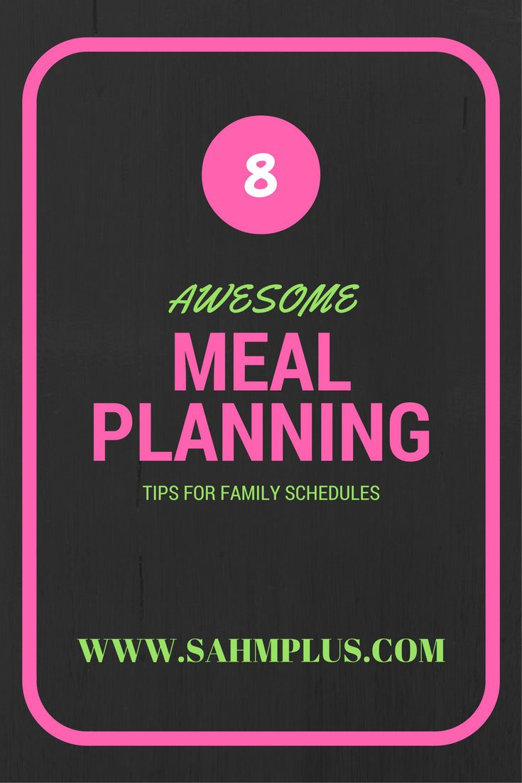 "Tired of hearing ""What's for dinner?"" 8 great tips to help you meal plan for your family."