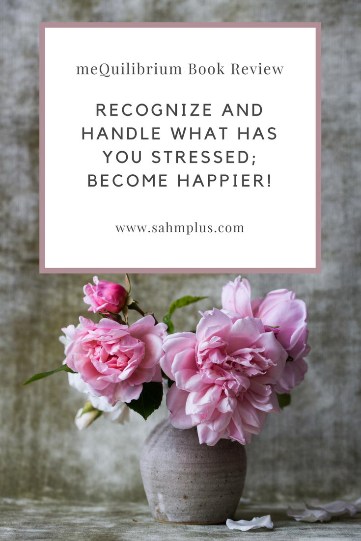 Recognize your stressors and the techniques to handle them. A great little book which will help you live a healthier and happier life. MeQuilibrium book review via www.sahmplus.com