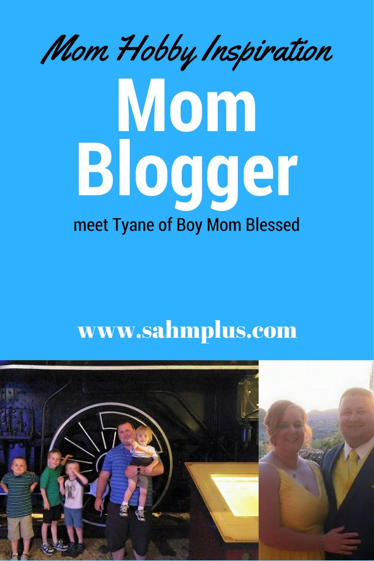 Mom hobbies come in many forms. Tyane is a mom blogger at Boy Mom Blessed