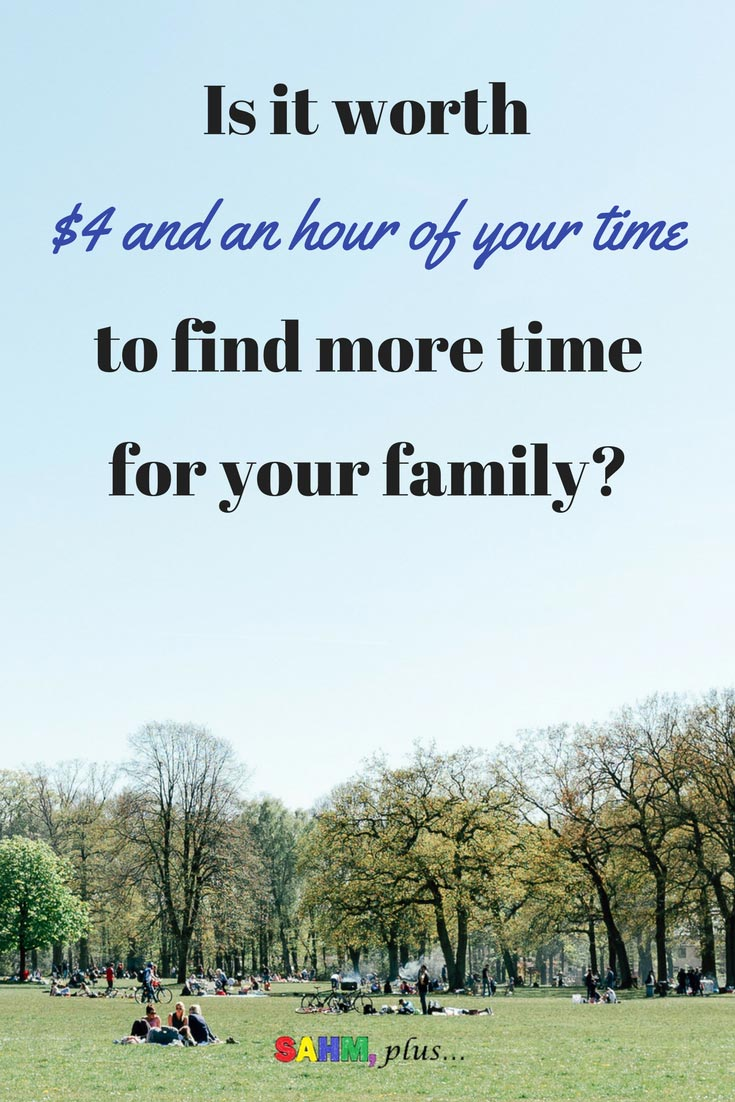 Would you pay $4 and give an hour of your time to read practical time management tips for parents? Find more time for your family