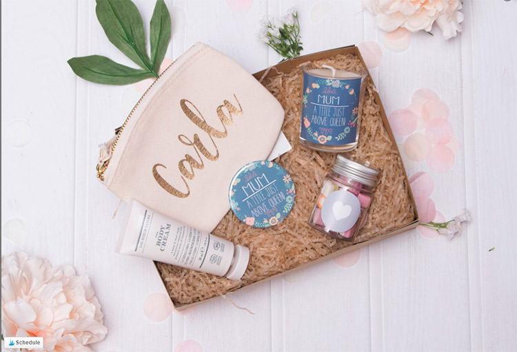 Mother's Day Gift Box with personalized item and choose of sweet