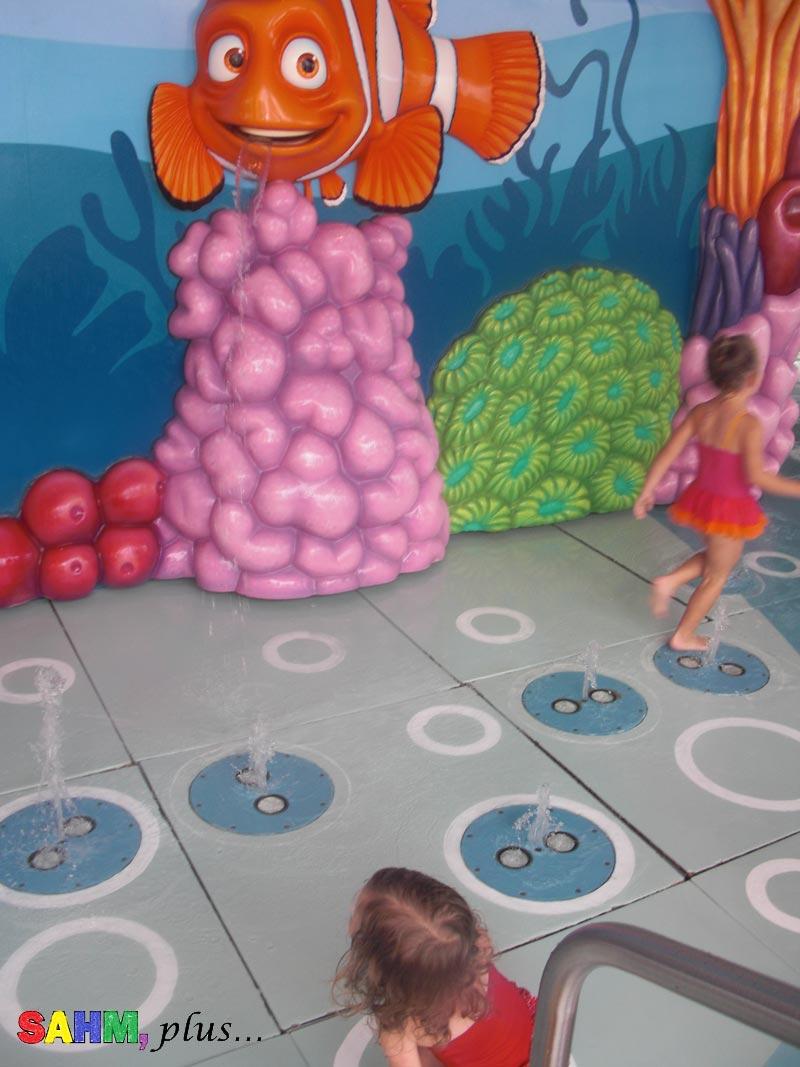 image of Nemo's Splash Pad - disney cruise with a toddler   www.sahmplus.com