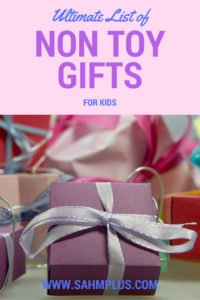 Ultimate list of non-toy gifts for kids - when the STUFF is overwhelming!