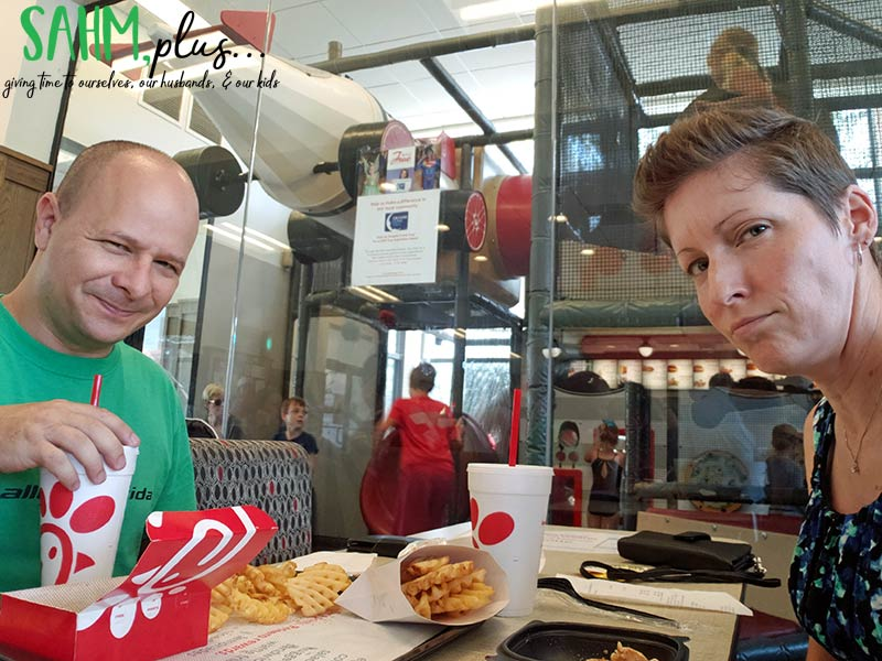 Attempt at angry faces at ChicFilA