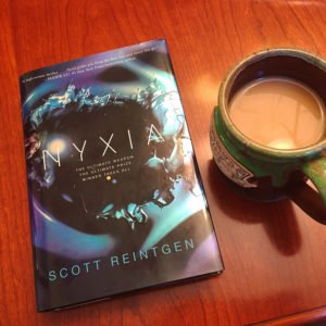 Book Review: Nyxia by Scott Reintgen. A book review from Cristen, resident book reviewer for www.sahmplus.com