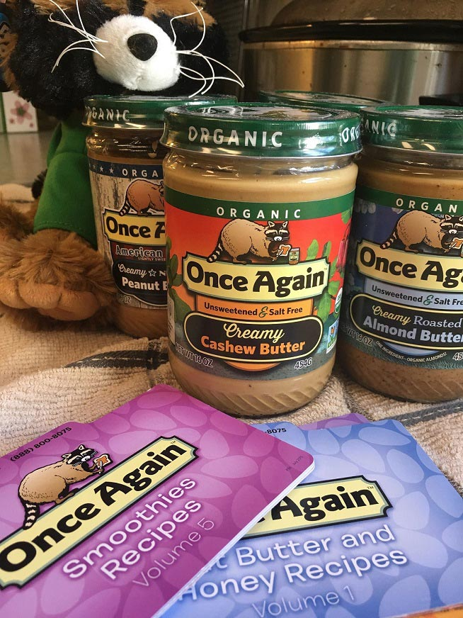 Once Again Organic Nut Butters Sample Kit from Moms Meet sponsored