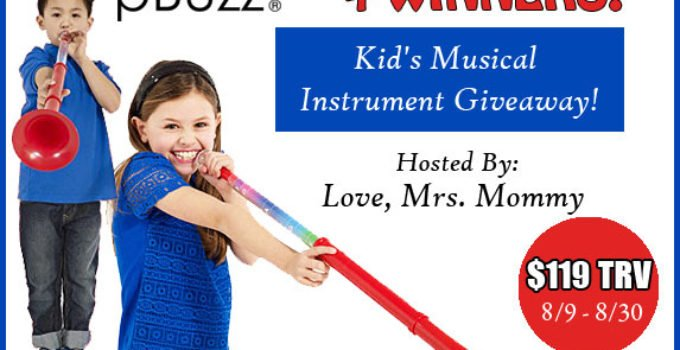 pBuzz Giveaway musical instrument for kids ends Aug 30 2017