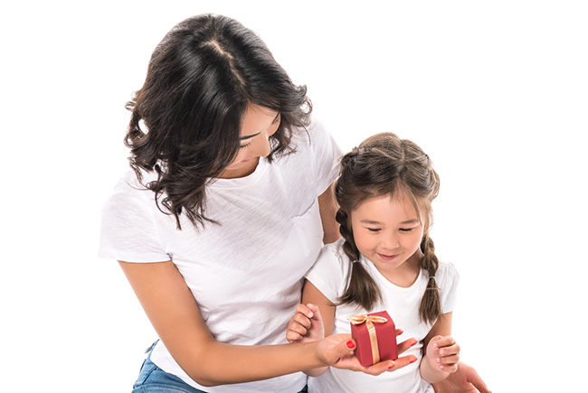 parenting bribing child to help her feel loved
