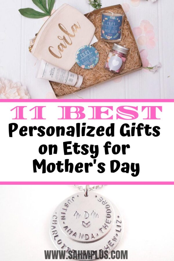 Fabulous personalized Mother's Day gifts on Etsy. Mom & Grandma will love these personalized Mother's Day gift ideas.