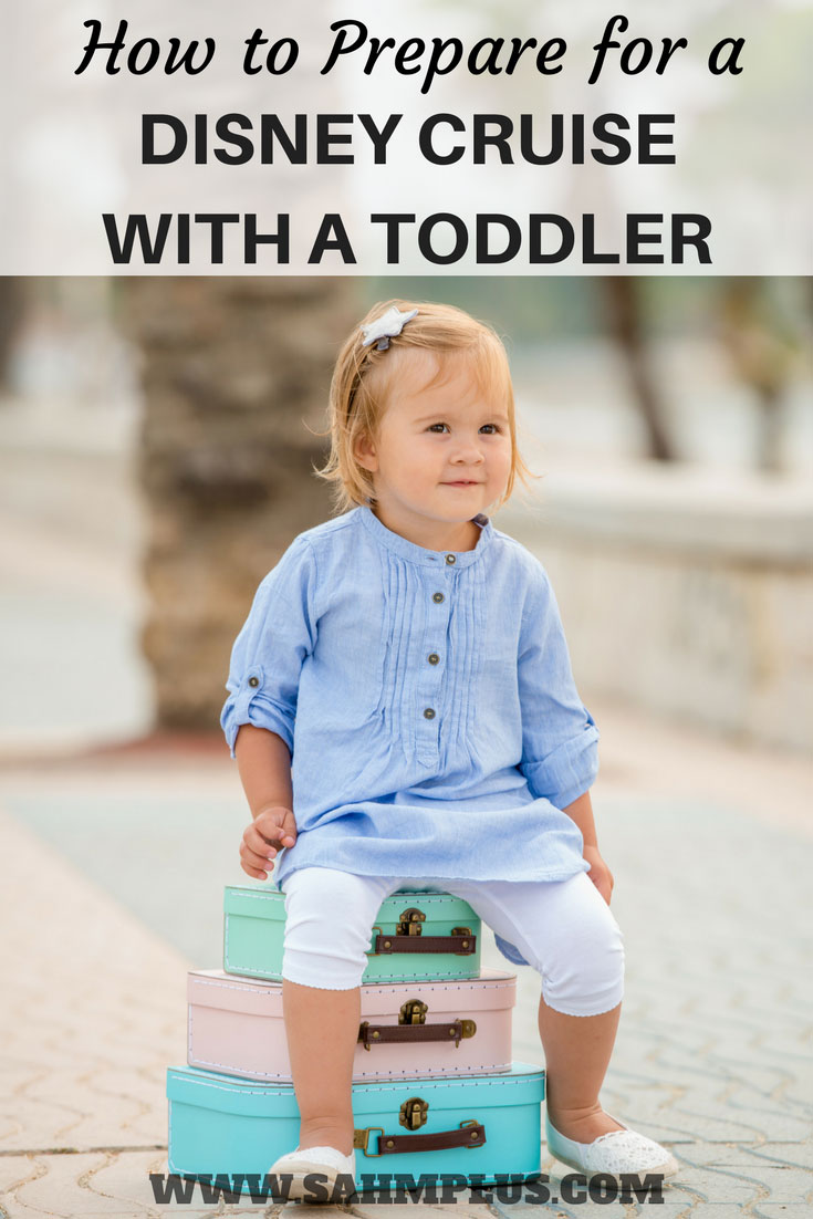 Toddler ready for her Disney Cruise! How to prepare for a Disney Cruise with a toddlers | www.sahmplus.com