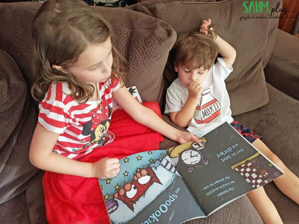 Make reading more fun for kids by practicing with a reading buddy.   sahmplus.com