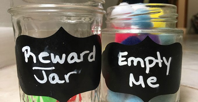 Why you should be using a reward jar when instilling a consequence jar to manage a child's behavior.   www.sahmplus.com