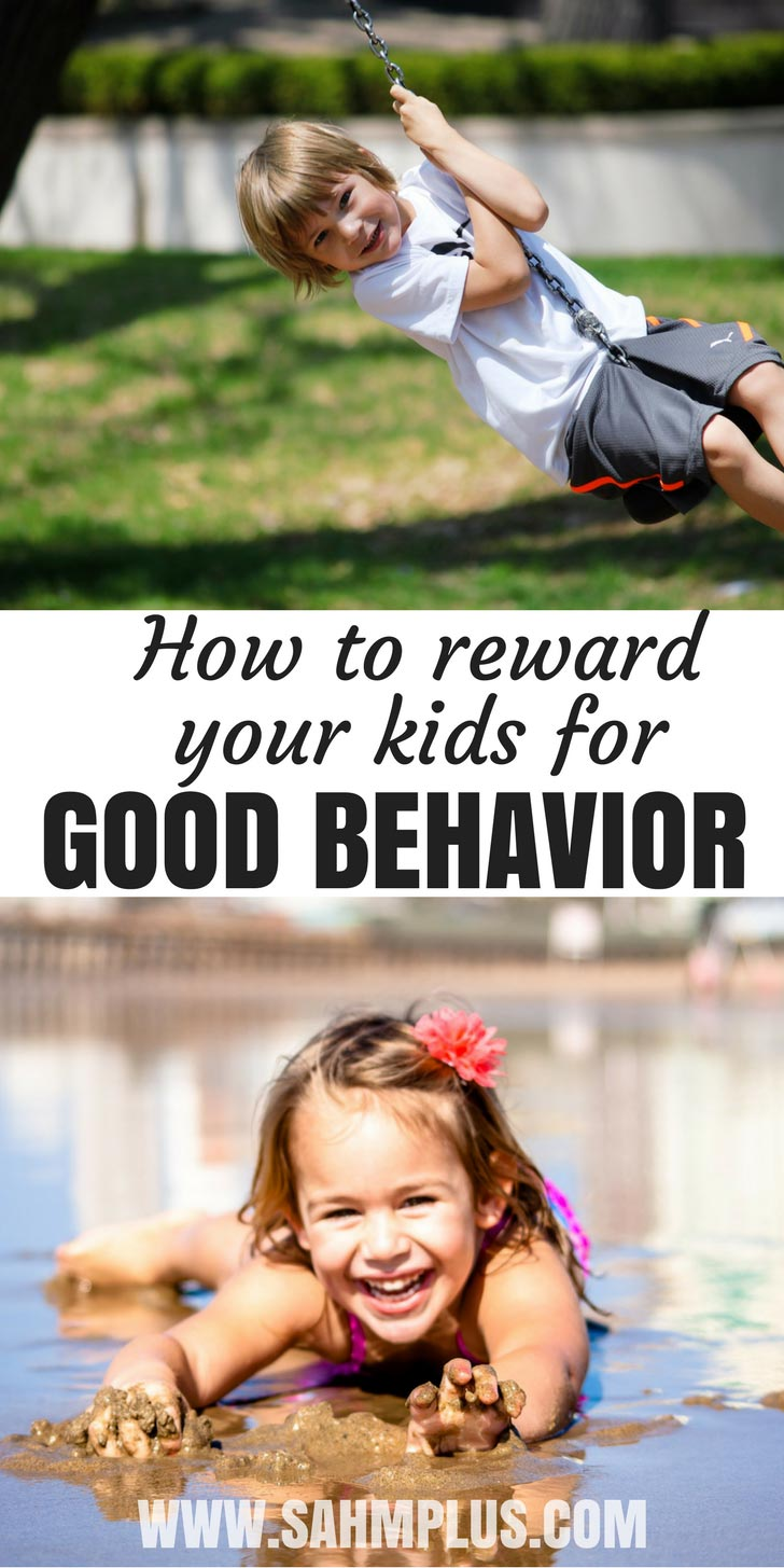 Happy kids.  Reward ideas for good behavior at home.  Whether or not you use a consequence and reward jar system, these are great ideas for rewarding your child's good behavior | www.sahmplus.com