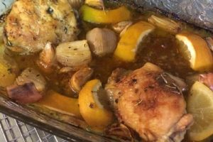 Roasted chicken thighs from The Paleo Chef by Pete Evans   www.sahmplus.com