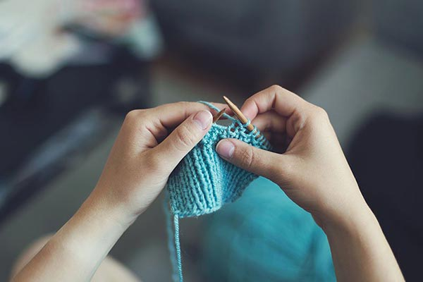 hobbies for stay at home moms idea: knitting
