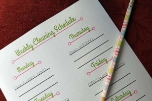 This is my best SAHM housekeeping schedule | www.sahmplus.com