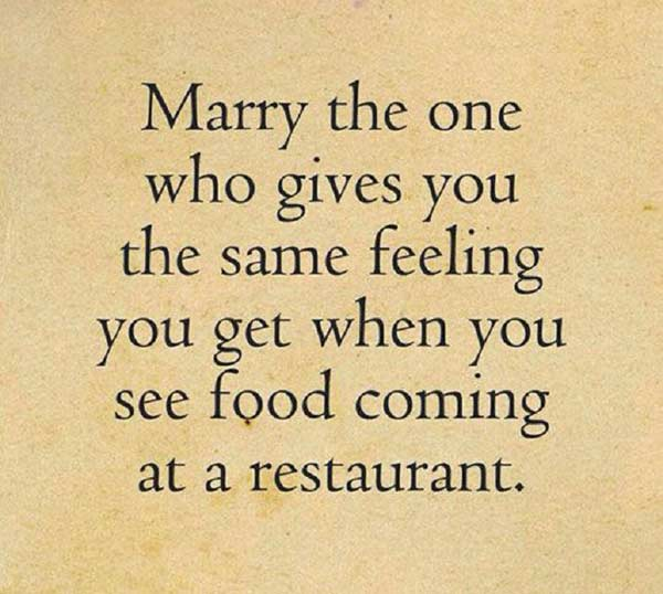same feeling when you see food coming funny marriage meme