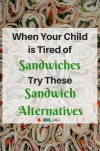 It's almost back to school, but you're anticipating the day your child is tired of sandwiches for lunch. Check out these sandwich alternative lunch ideas to help you think beyond the sandwich and mix it up. And you can still pack a healthy lunch for school | www.sahmplus.com
