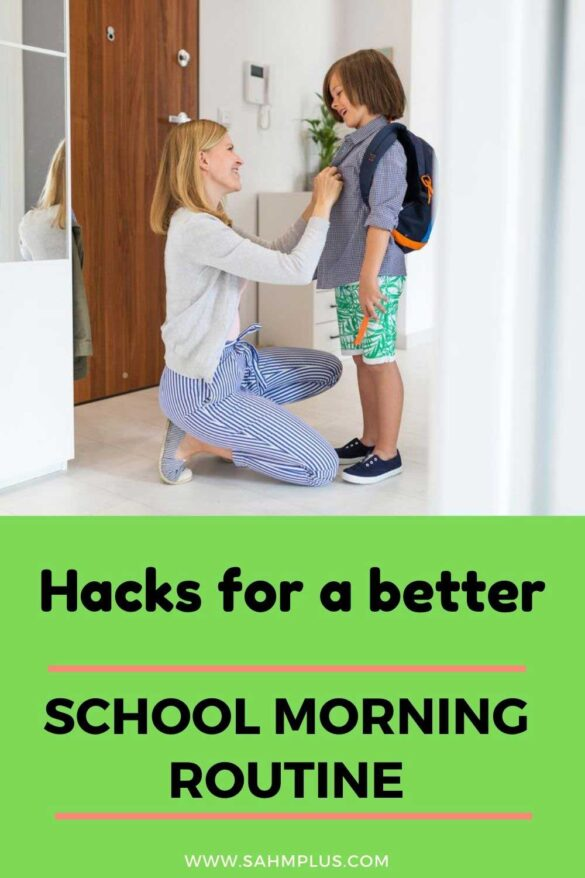 Really productive hacks for a better school morning routine! Help your kids beat the back to school morning rush with these tried and true tips for your family.