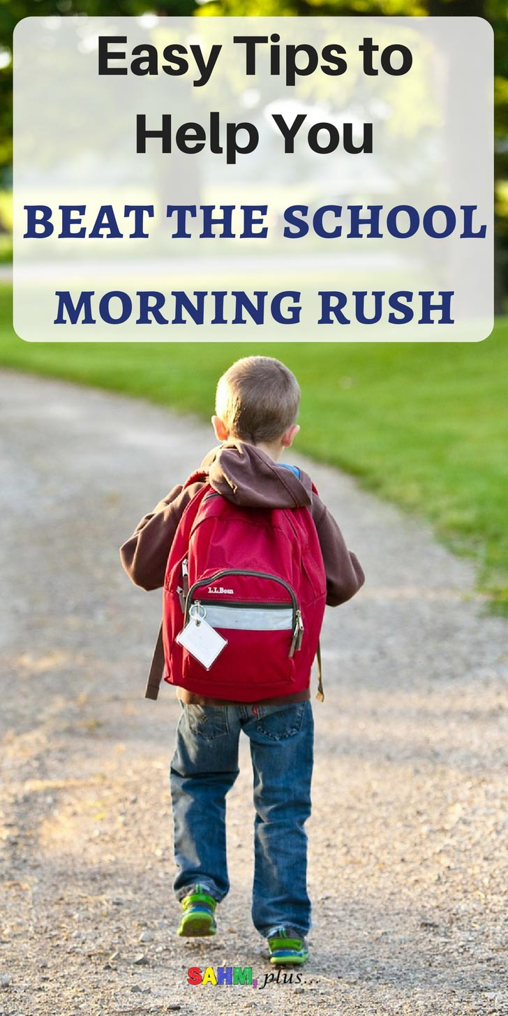 Back to school season is upon us | These easy tips will help you beat the school morning rush | time management and back to school organization for parents | www.sahmplus.com