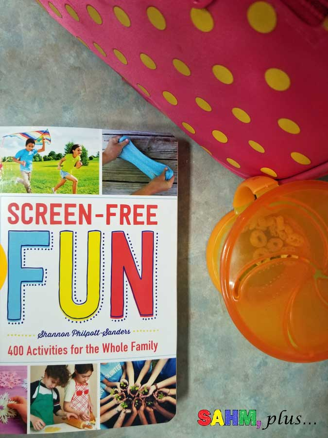 kids unplug for screen-free week with the new book Screen-Free Fun | www.sahmplus.com