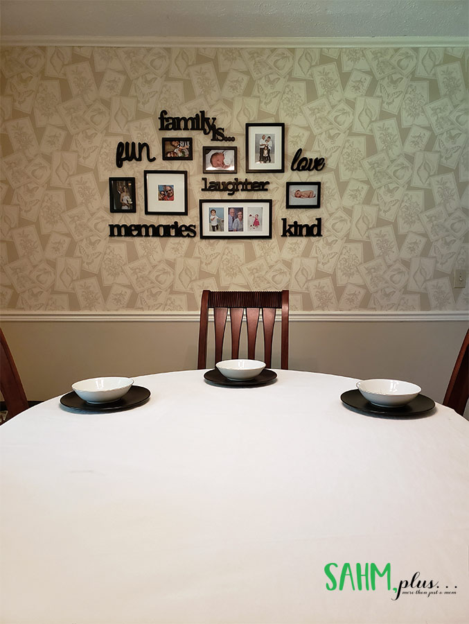 Our dining room decorating ideas - bold statement pieces in a drab dining room   sahmplus.com