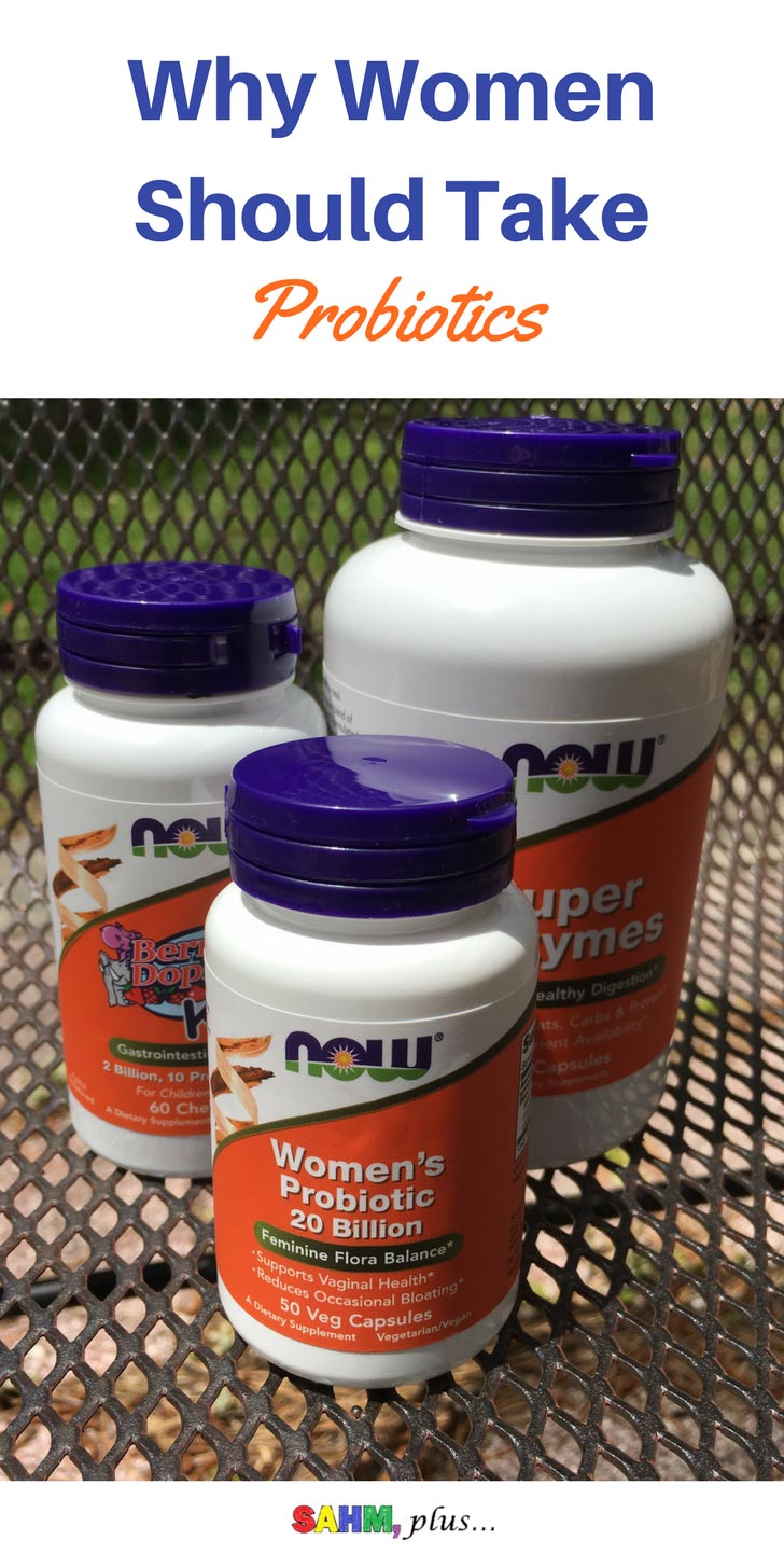 Why should women take probiotics? Aside from immune and gut health, women's probiotics can have other health benefits, specific to them. #sponsored #momsmeet via www.sahmplus.com