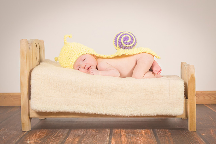 This isn't how you want baby to sleep at night, but the image is peaceful ... making you long for your baby to sleep.