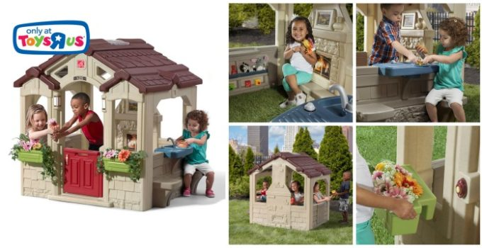 Collage of Step2 Charming Cottage Playhouse images | www.sahmplus.com