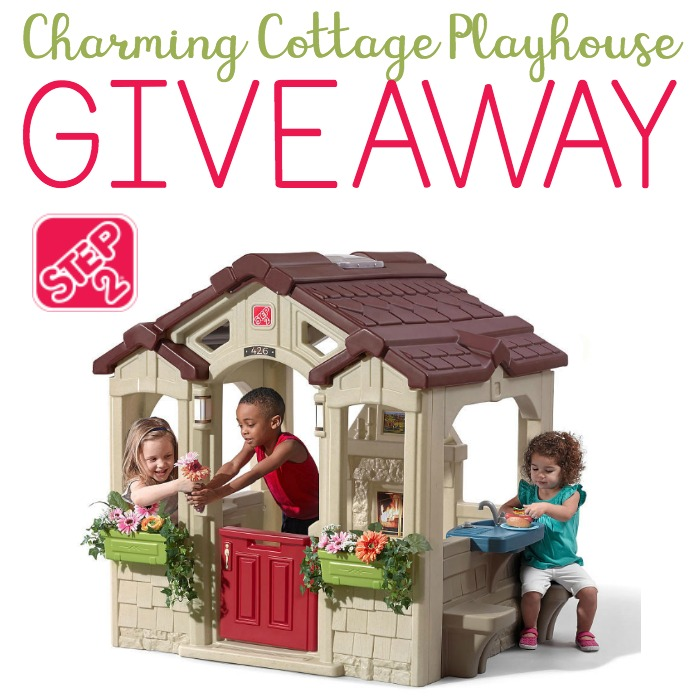 Step2 Charming Cottage Playhouse Giveaway | www.sahmplus.com