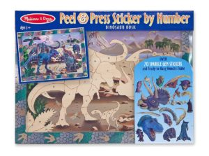 dinosaur scene sticker by number