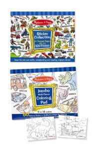 sticker and coloring page bundle with dinosaurs