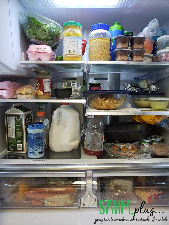 Stocked fridge thanks to grocery delivery | sahmplus.com
