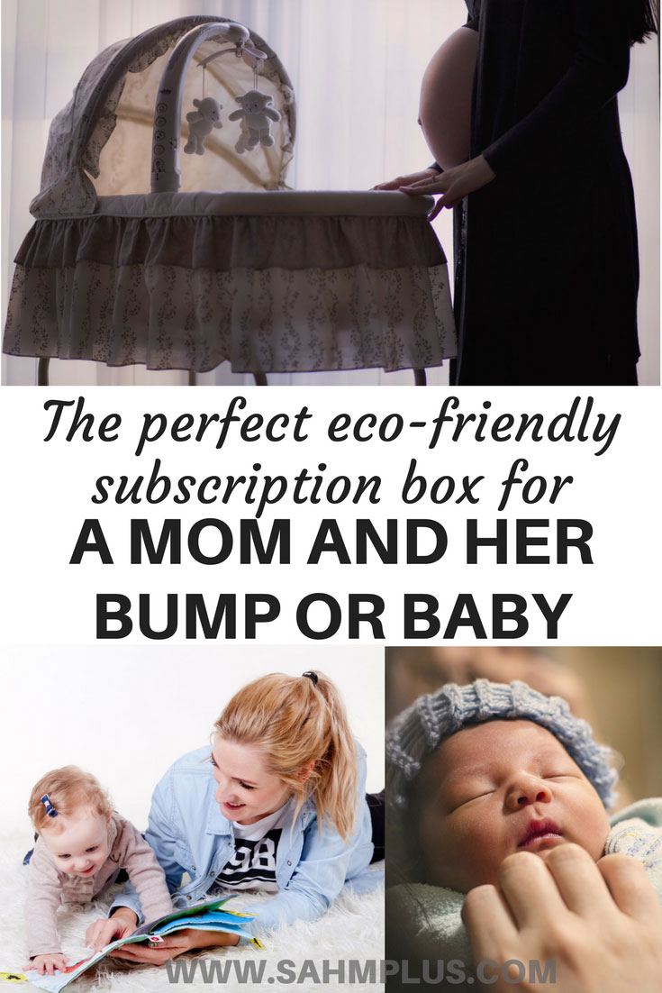 Why the Ecocentric mom subscription is the perfect gift for an expectant mom and her bump or a mom with a new or older baby | www.sahmplus.com