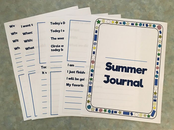 Ready to use summer journal printable | www.sahmplus.com