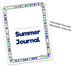Subscribe for a free printable kids summer journal | make the most of your child's summer break | www.sahmplus.com
