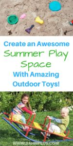 Creating an awesome summer play space could be as simple as selecting amazing outdoor toys. Keep your kids busy and outside this summer with this selection of outdoor toys perfect for every interest! | www.sahmplus.com