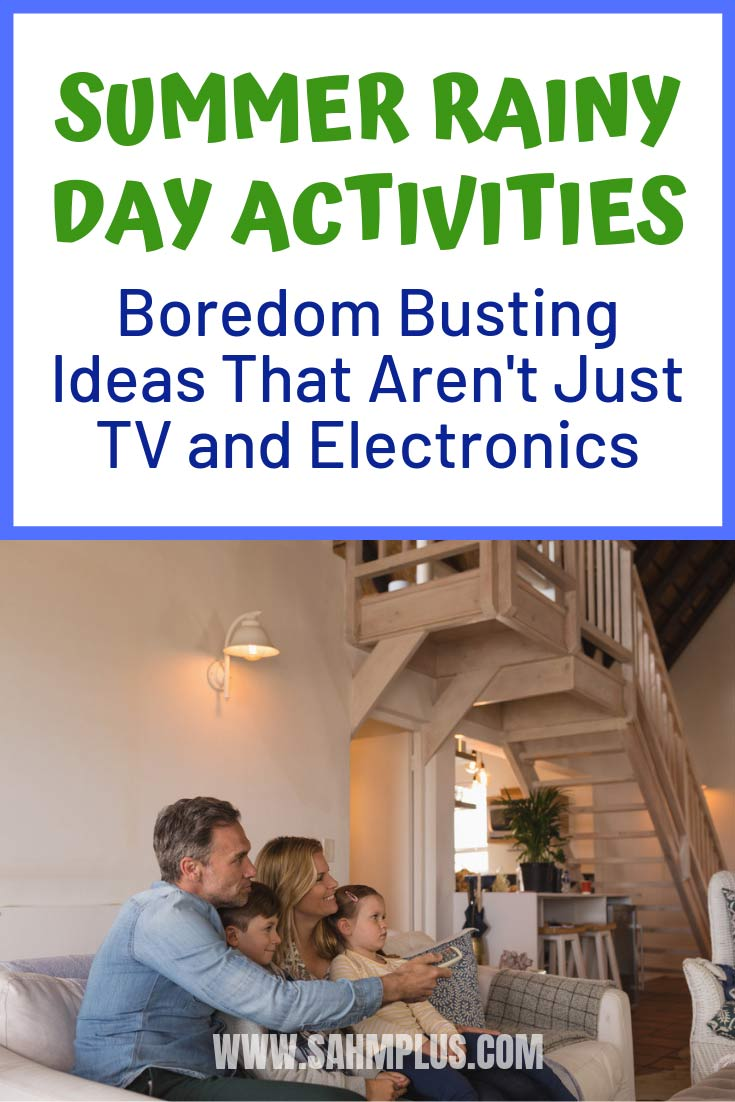 Summer rainy day activities for kids.  Boredom busting ideas for children when summer rains on the day!