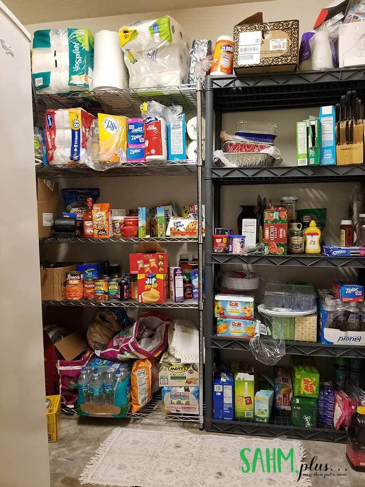 Survival food storage supply closet