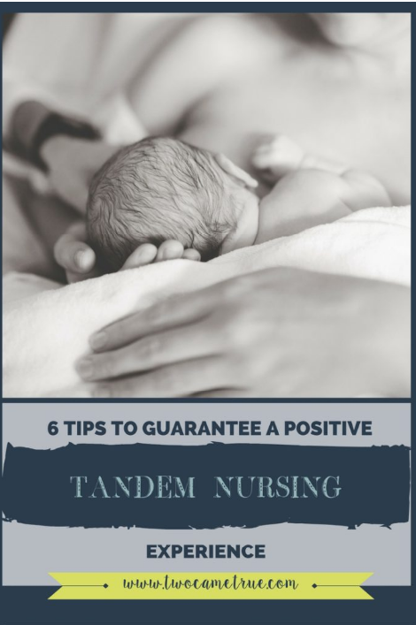 Tips for a positive experience tandem nursing twins via Two Came True