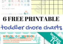 6 free toddler chore chart printables. Easily start your toddler on chores with one of these toddler chore charts. | www.sahmplus.com