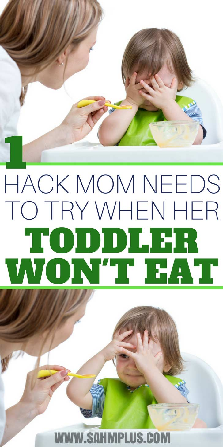 Toddler won't eat dinner? Don't proclaim the toddler a picky eater before trying this toddler mealtime hack to end mealtime battles.   www.sahmplus.com