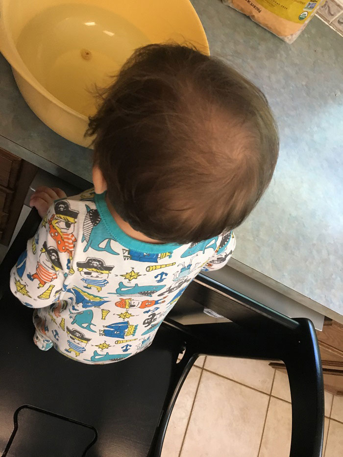 what we loved in May 2017 - toddler in The Original Learning Tower by Little Partners | www.sahmplus.com