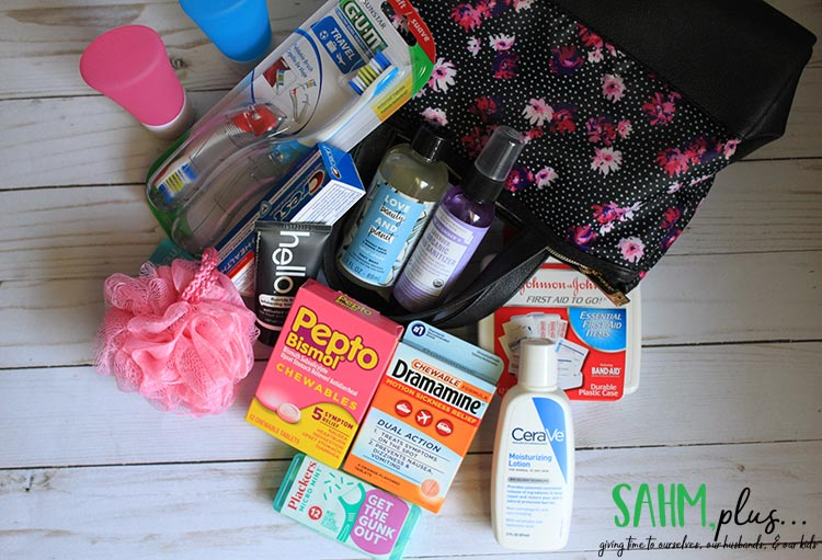 travel sized items i'm packing for a trip to Europe; travel size toiletries