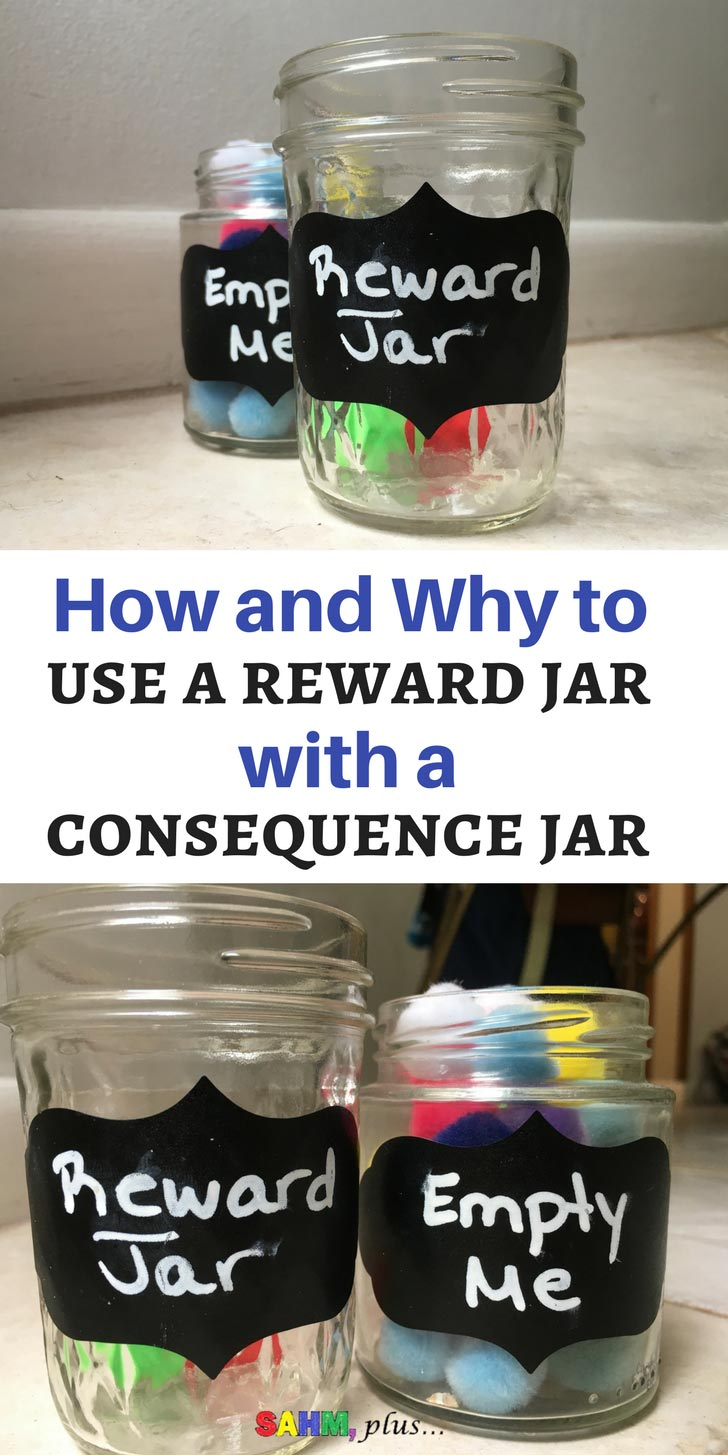 Managing a child's behavior isn't all about focusing on consequences for bad behavior. | Using a reward jar can help to focus on the good behavior you may be overlooking | www.sahmplus.com