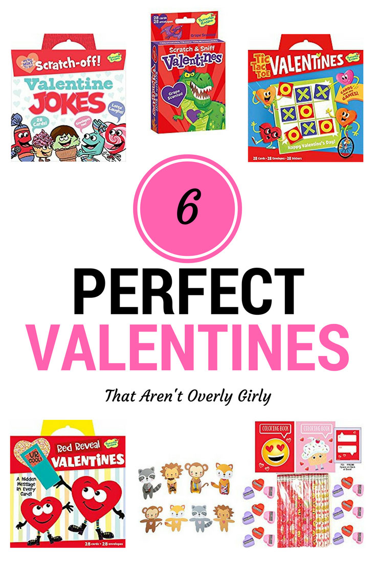 6 perfect Valentine Cards for your child's class that aren't overly girlie
