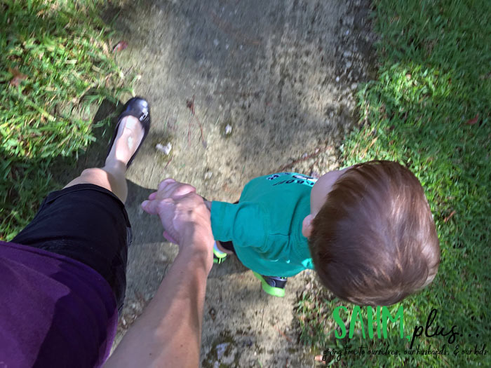 Walk with your children as exercise to celebrate American Heart Health Month